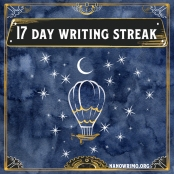 Day 17 writing badge