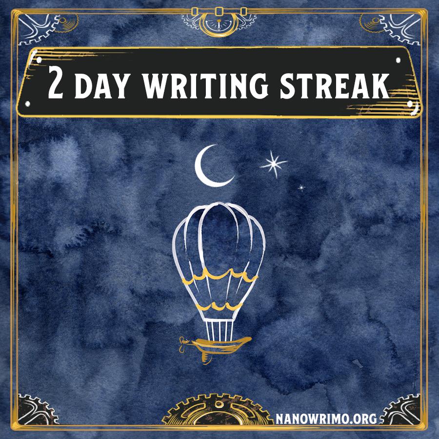 Day 2 writing badge