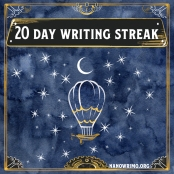 Day 20 writing badge