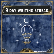 Day 9 writing badge