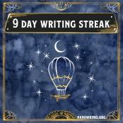 Day 9 writing badge